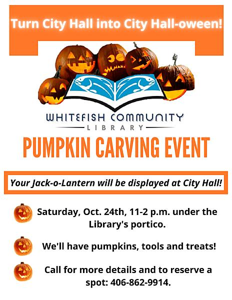 Pumpkin Carving Event flyer