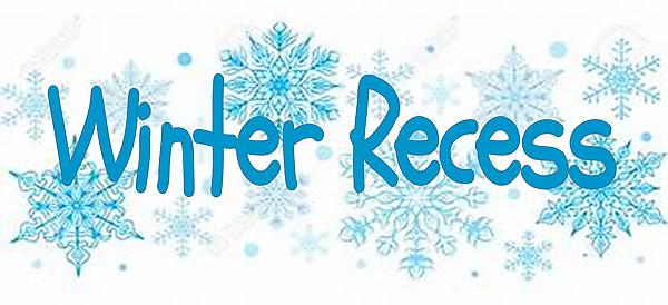 Winter Recess with snowflakes picture