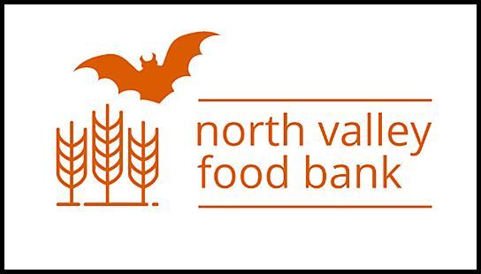 North Valley Food Bank logo with Halloween Bat
