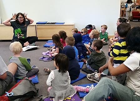 Kids at story time