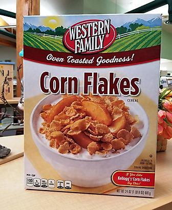 box of corn flakes