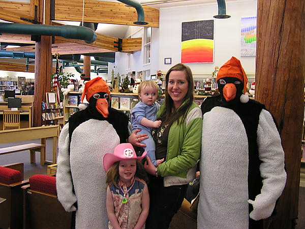We knew that WINTER CARNIVAL was right around the corner  when the penguins came to visit the library
