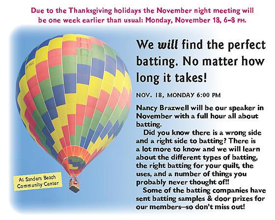 Nov night meeting