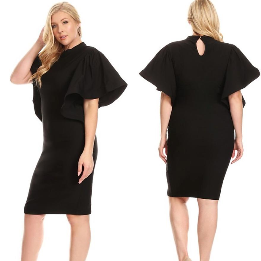 LBD with Ruffle Sleeves