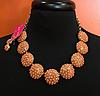 Peach Necklace with Earrings