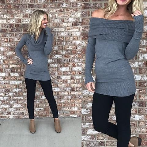 Never Out of Style Off-Shoulder Sweater