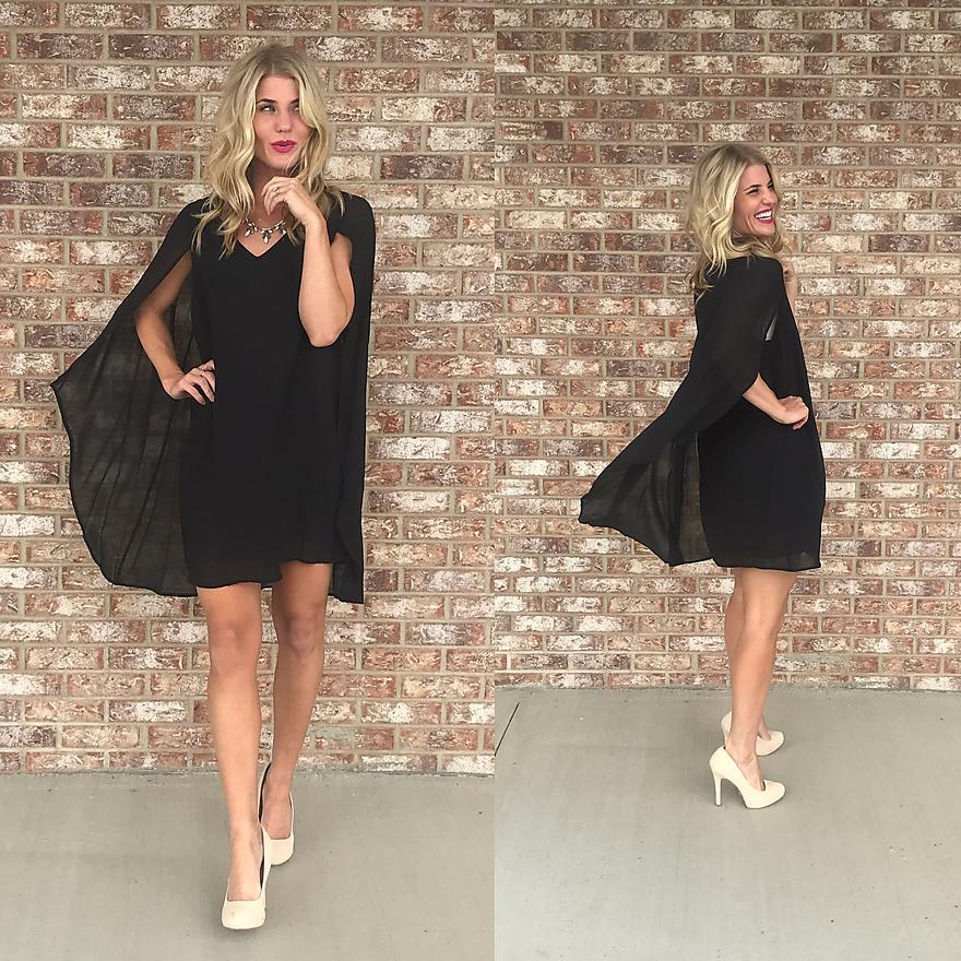 Batgirl Cape Black Dress