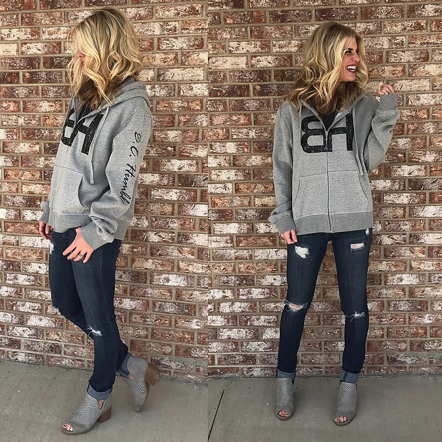 BH Custom Hooded Zip-Up Sweatshirt
