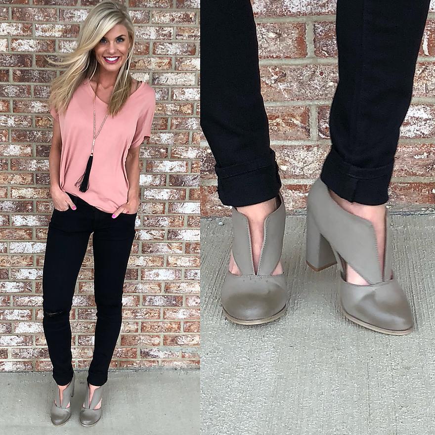 Grayish Taupe Heels