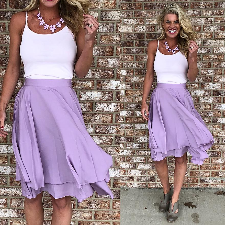 Lavender Layered Skirt