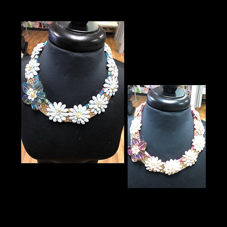 Iridescent Floral Necklace