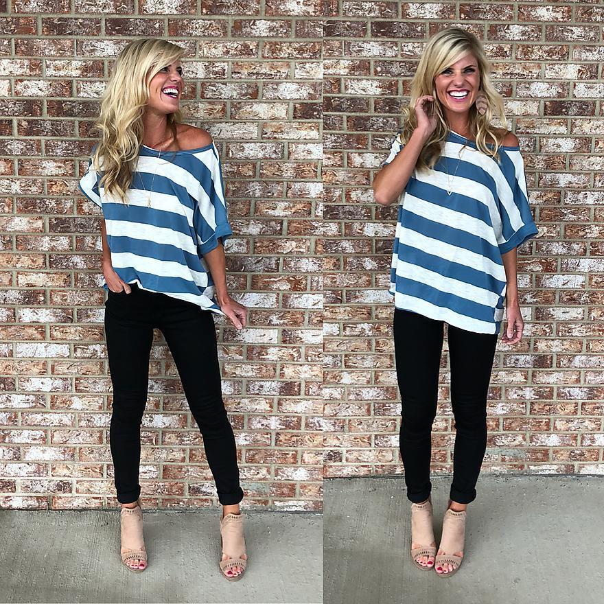 Blue Striped Teeshirt