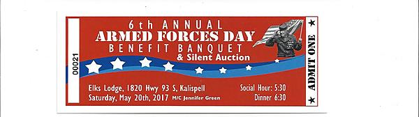 Armed Forces Day Dinner Ticket
