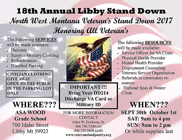 Stand Down Libby 2017